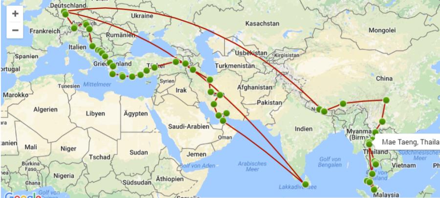 Reise Karte