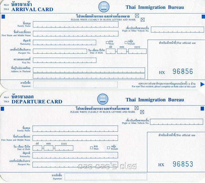 Visa on Arrival Thailand