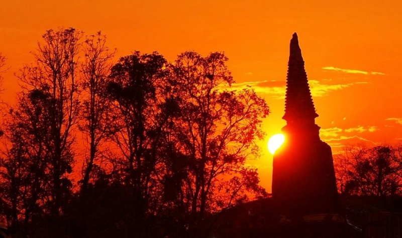 Sonnenuntergang Ayutthaya