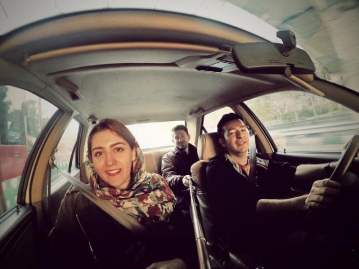 Stau in Teheran